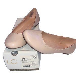 LC Lauren Conrad Dex flat blush tan peach 10